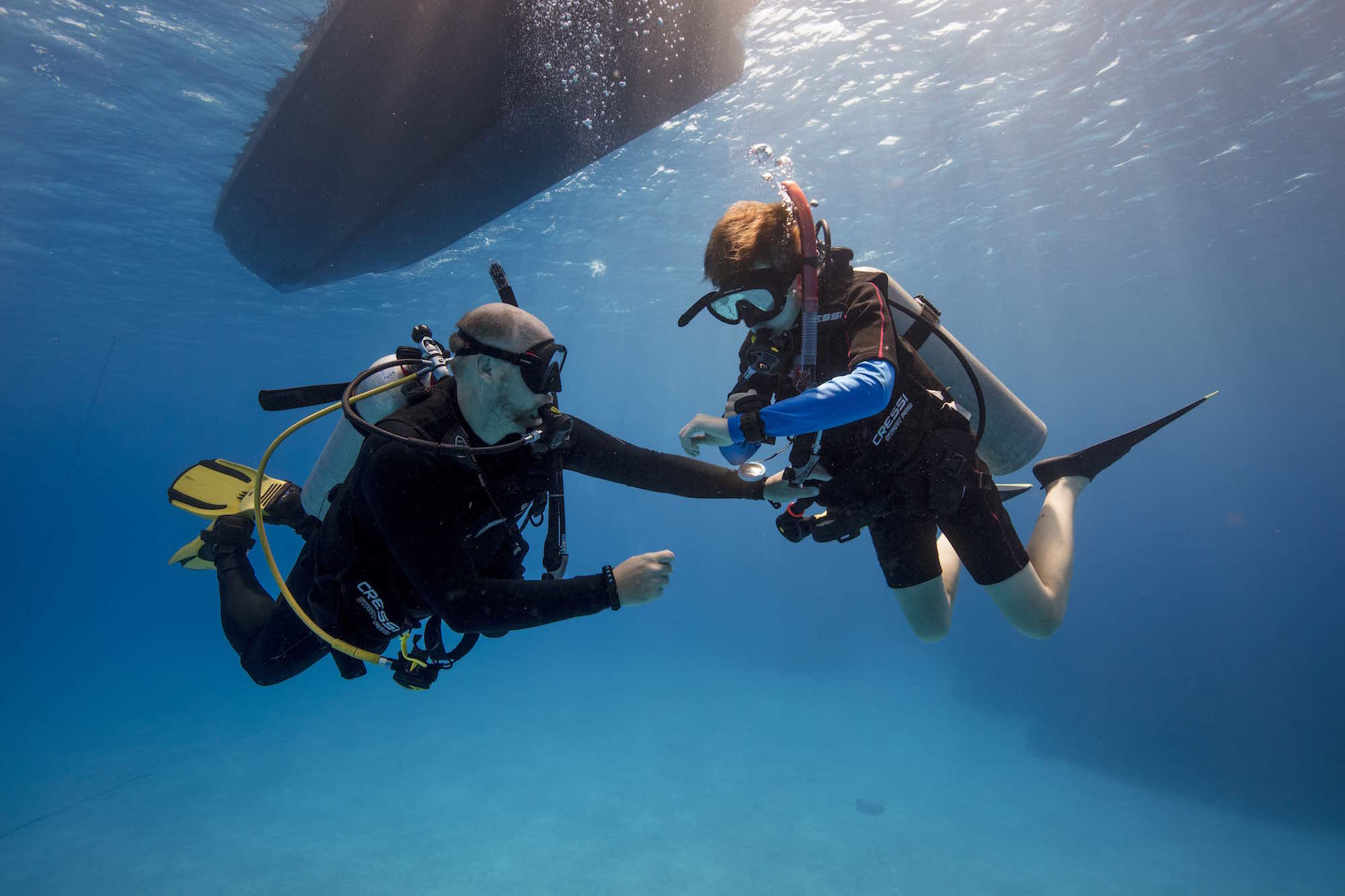 www.thefunkyturtle.com advanced diving courses for kids on koh tao