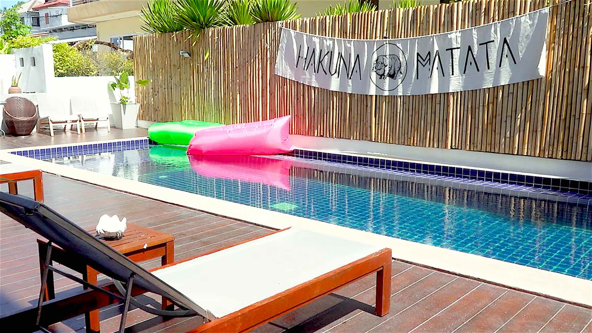 www.thefunkyturtle.com hakuna matata hostel koh tao relax by the pool