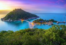 Koh Nangyuan Island by twilight