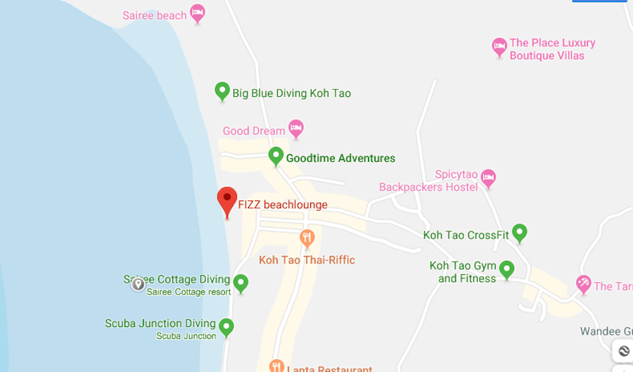 thefunkyturtle.com fizz beach lounge koh tao location