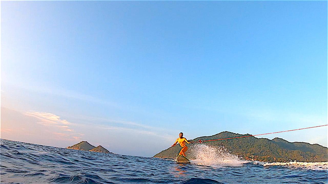 www.thefunkyturtle.com best wakeboarding on koh tao
