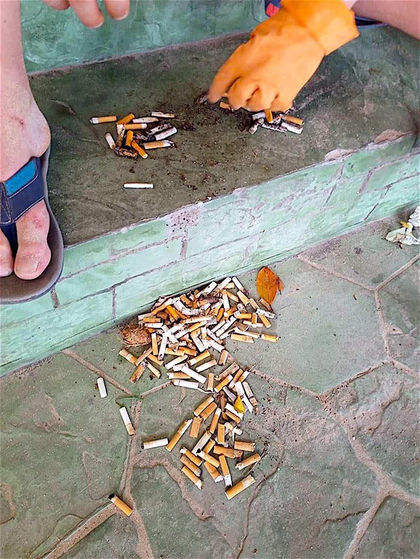 www.thefunkyturtle.com cigarette butt challenge koh tao