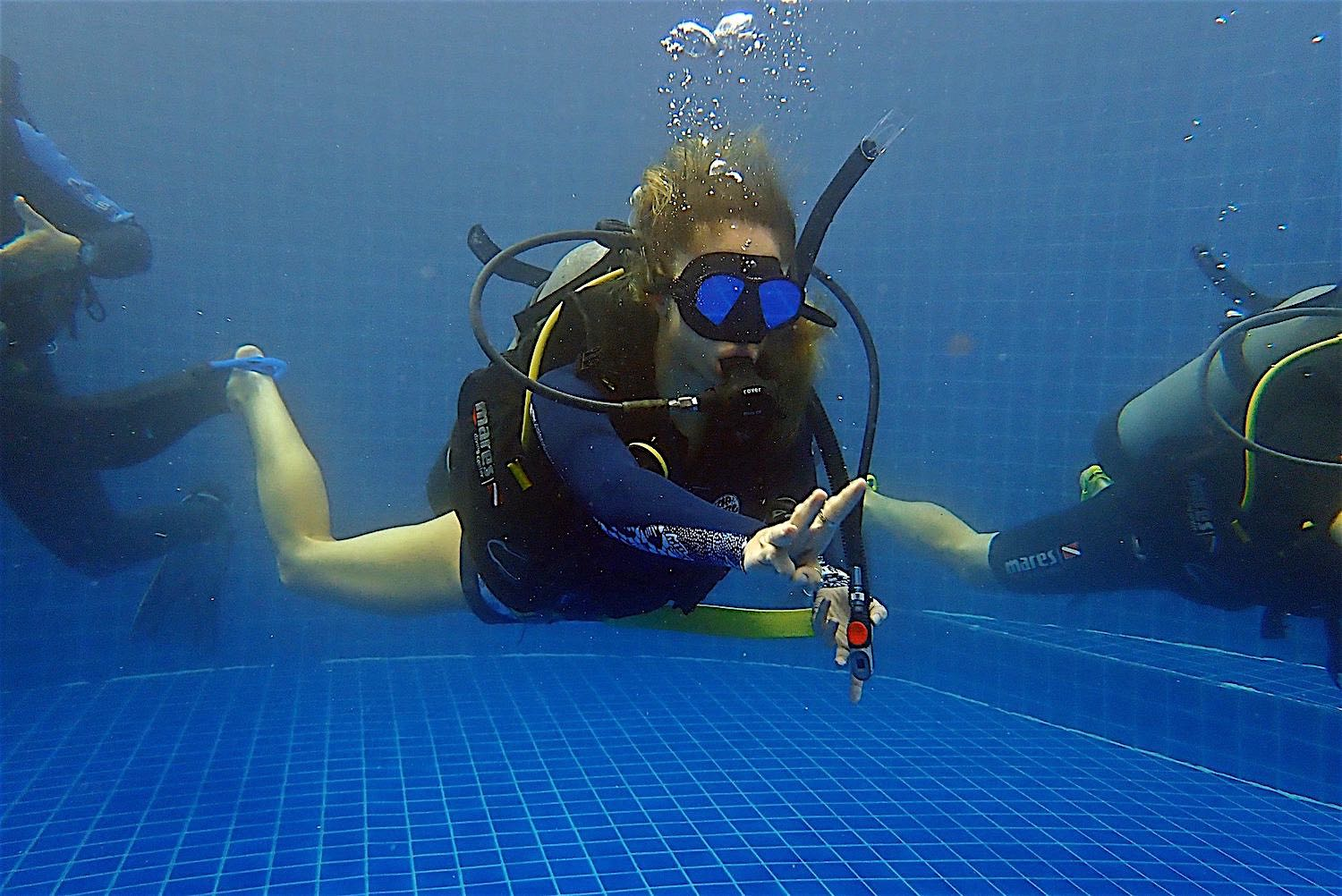 www.thefunkyturtle.com divemaster course koh tao