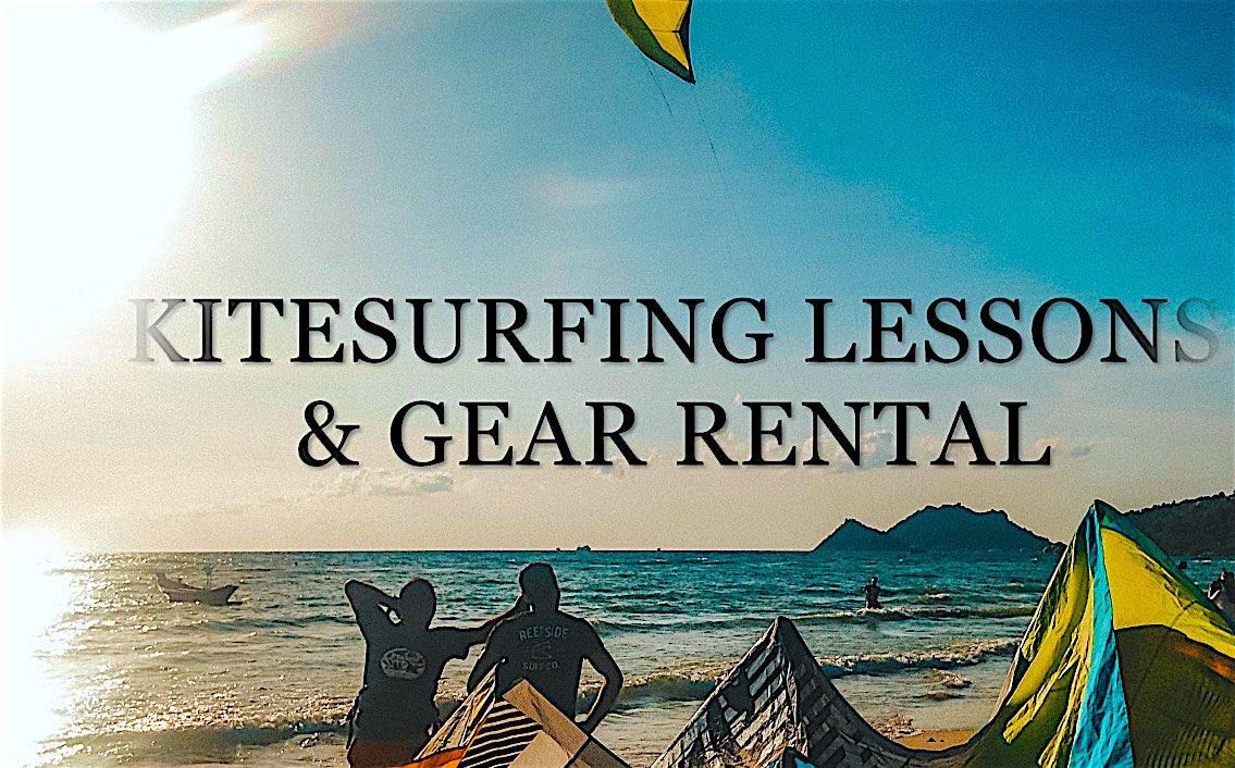 www.thefunkyturtle.com kitesurfing lessons on koh tao