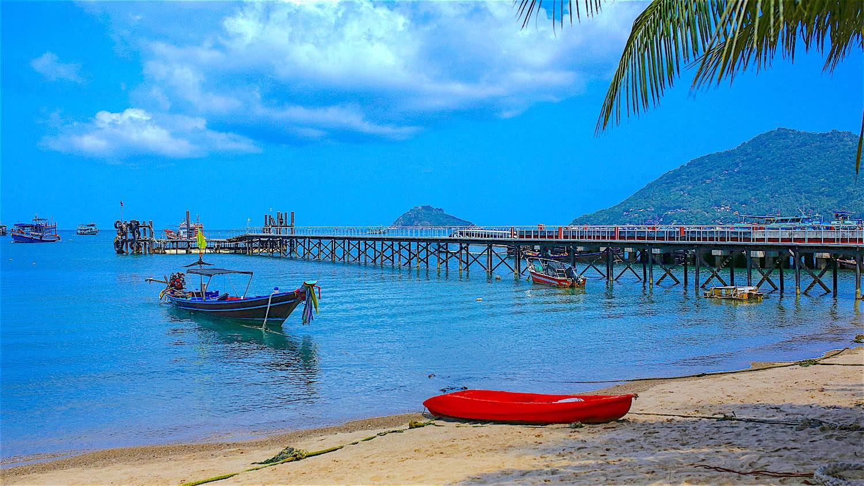 Mae Haad Pier on Koh Tao, Thailand