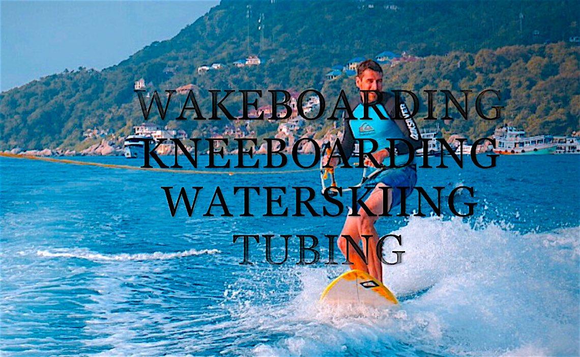 www.thefunkyturtle.com waterskiing on koh tao