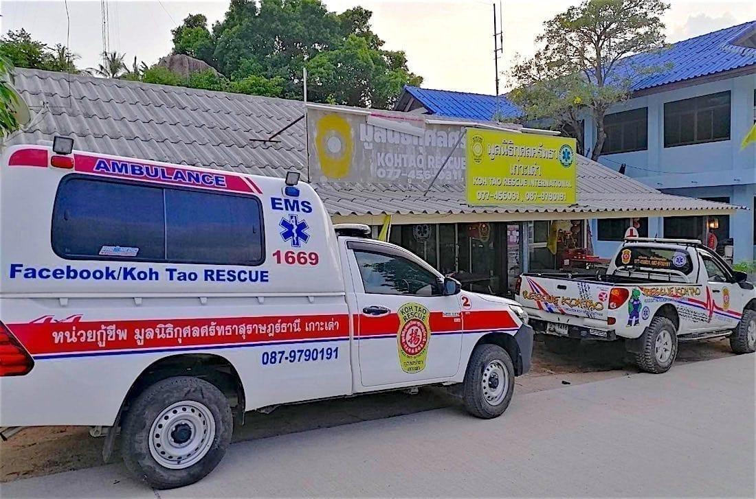 www.thefunkyturtle.com ems emergency rescue on koh tao