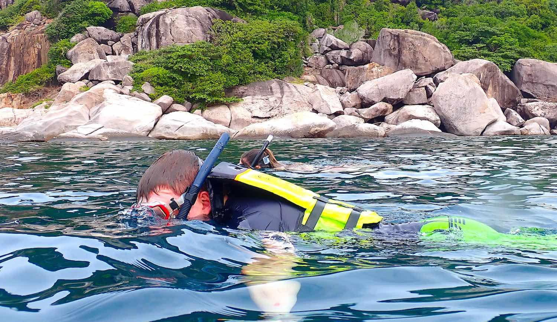 www.thefunkyturtle.com half day snorkeling trip fun on koh tao