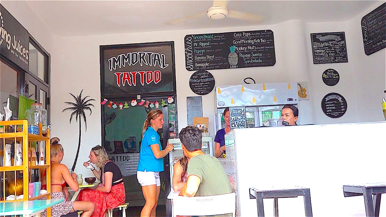 www.thefunkyturtle.com living juices vegan cafe and juice bar koh tao
