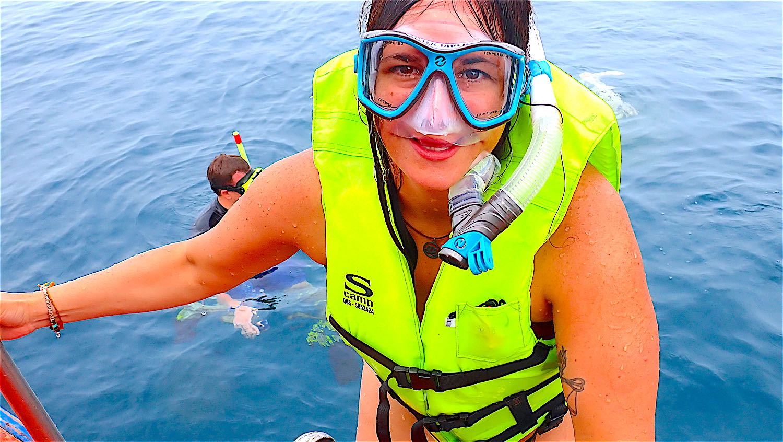 www.thefunkyturtle.com snorkeler full day koh tao