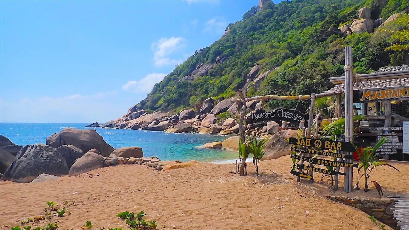 www.thefunkyturtle.com beachside cafe tanote beach koh tao