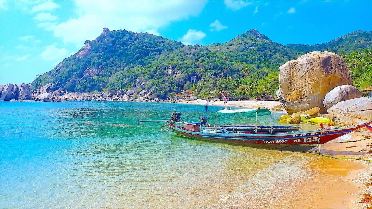 www.thefunkyturtle.com long tail boat tanote beach koh tao