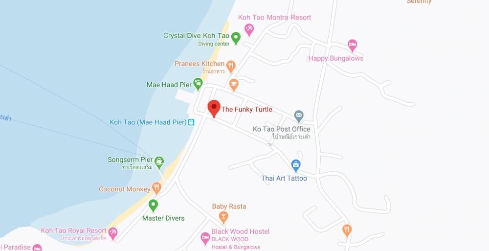 thefunkyturtle.com mae haad beach map location