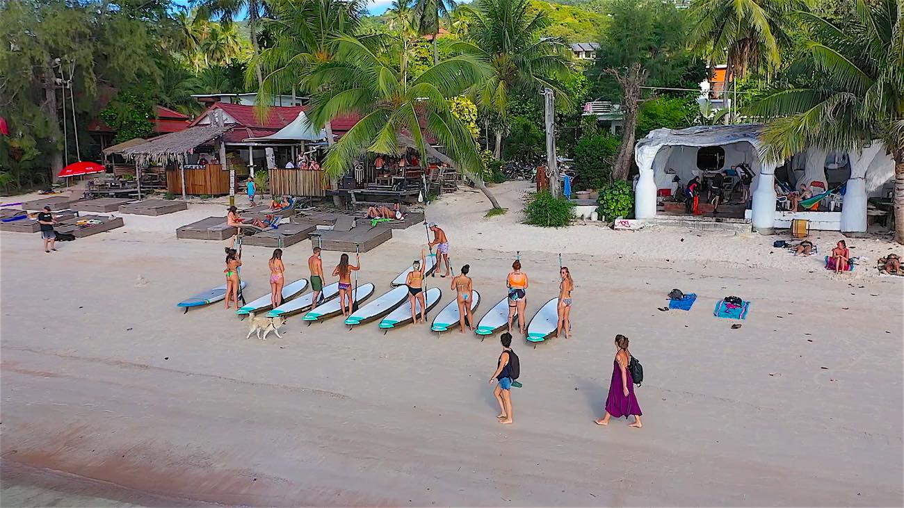 thefunkyturtle.com best paddleboarding in sairee beach on koh tao