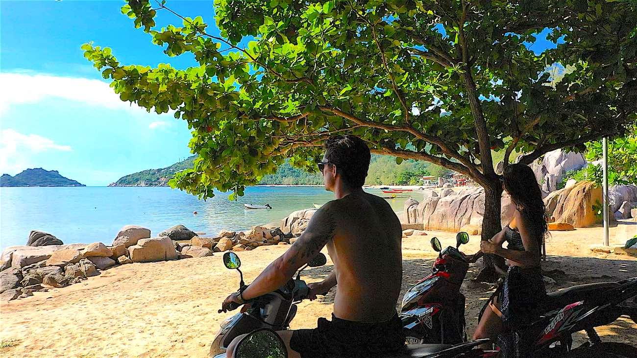 www.thefunkyturtle.com scooter rental koh tao thailand