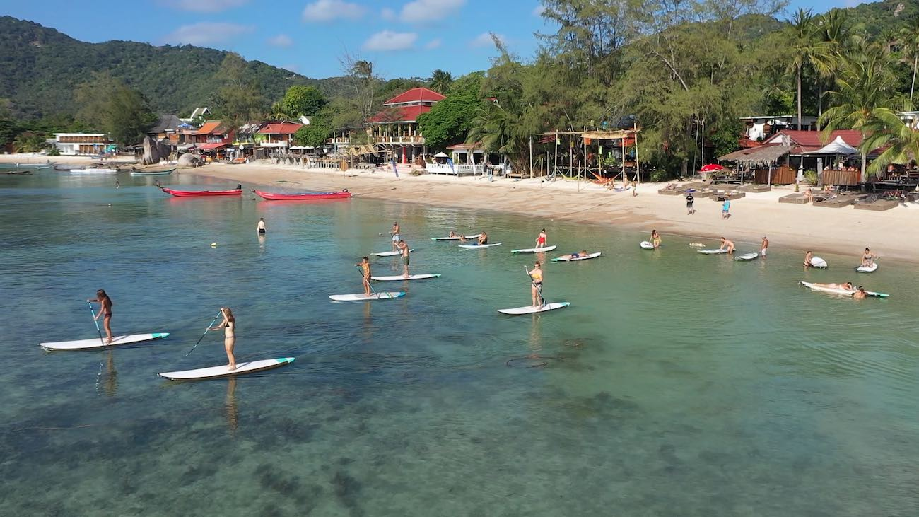 www.thefunkyturtle.com sup tao paddleboarding beach on koh tao