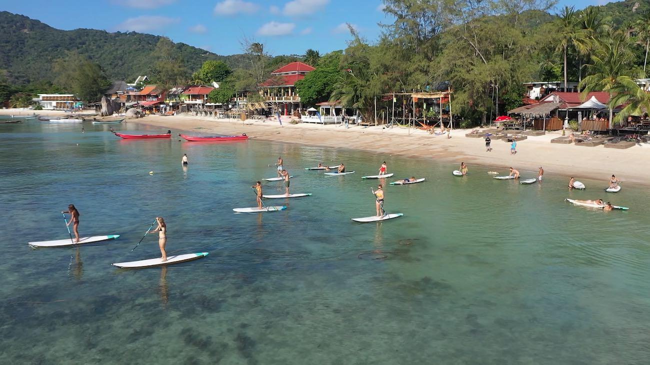 thefunkyturtle.com sup tao paddleboarding beach on koh tao