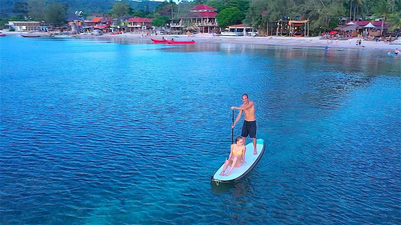 thefunkyturtle.com sup tao paddleboarding sairee beach koh tao in thailand