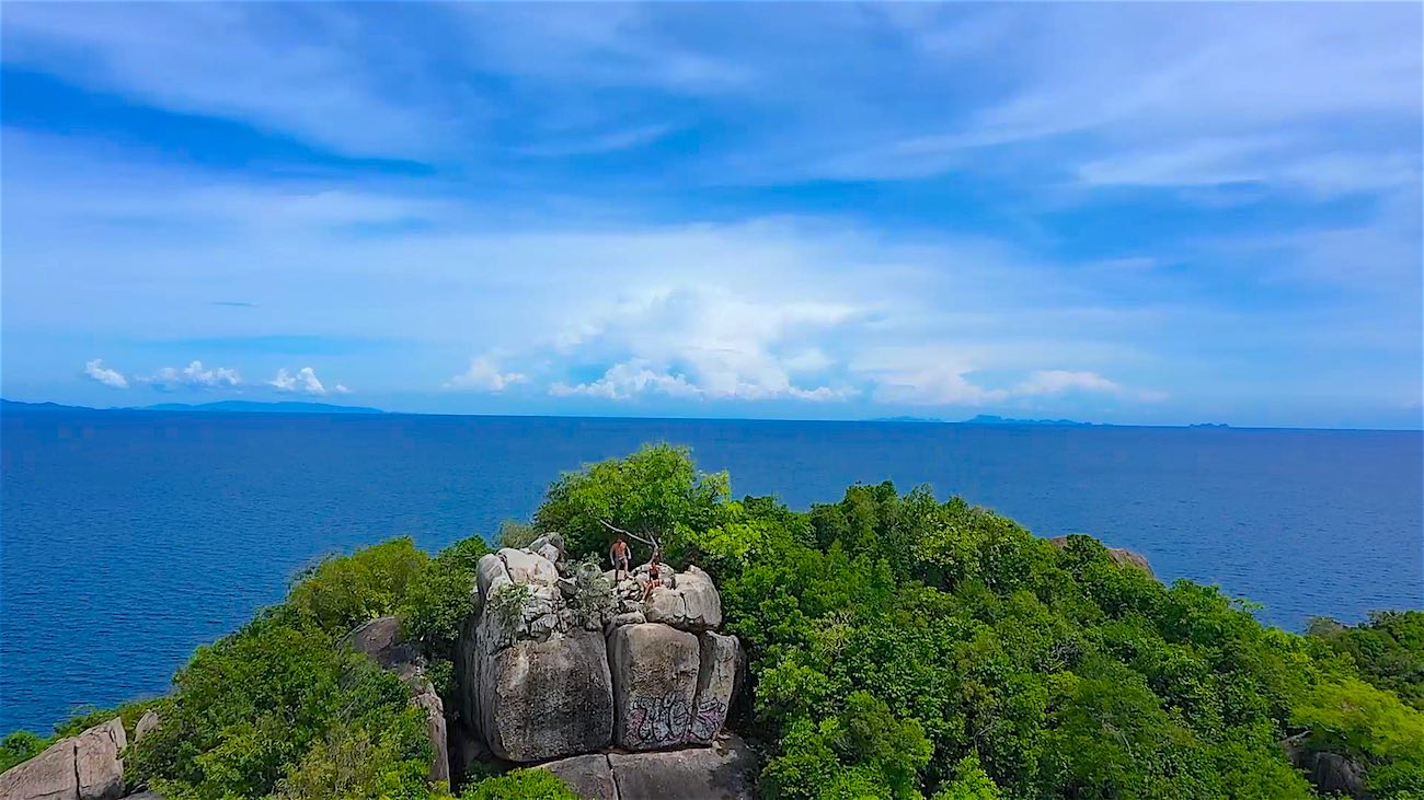 thefunkyturtle.com best things to do koh tao sairee beach to john suwan viewpoint across gulf of thailand