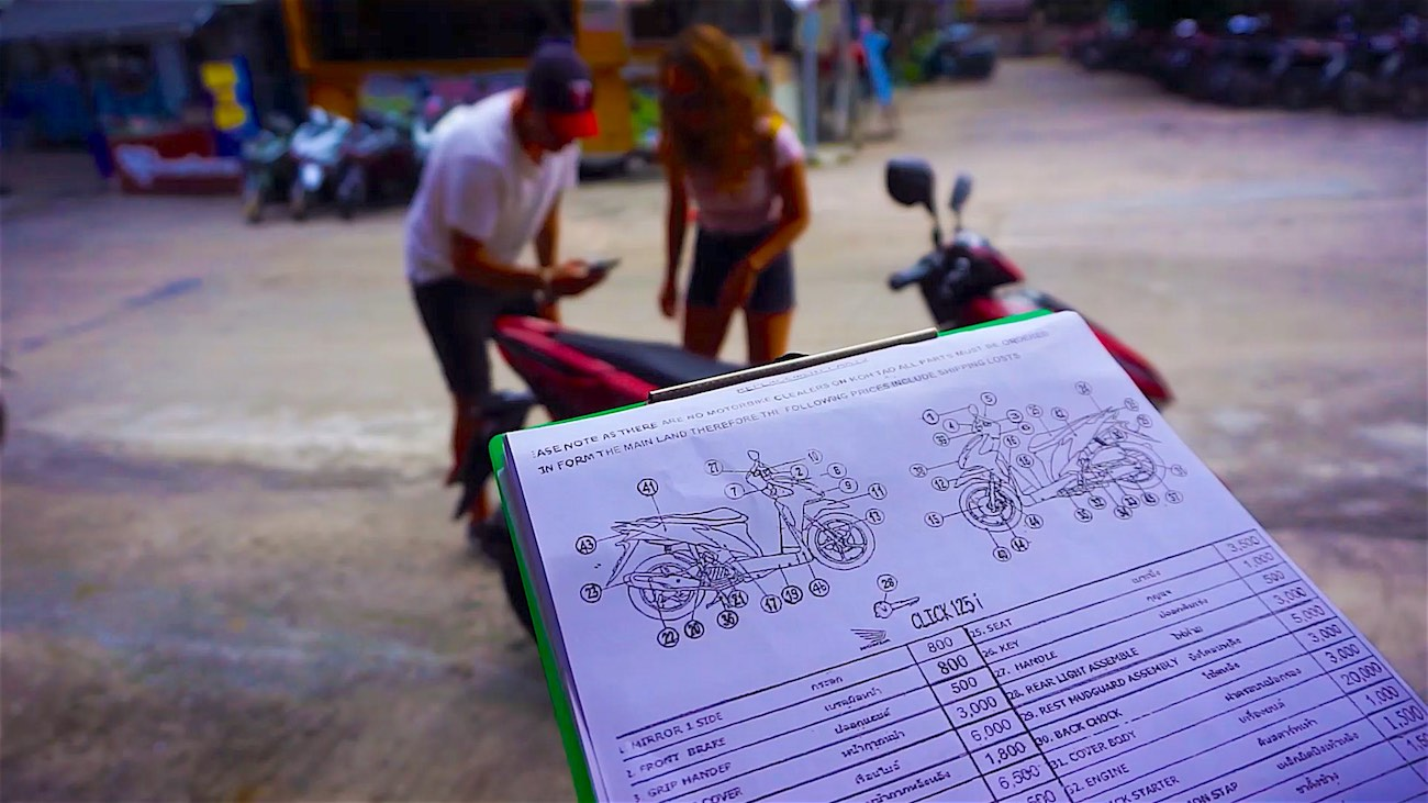 www.thefunkyturtle.com koh tao scooter rental tips safety check