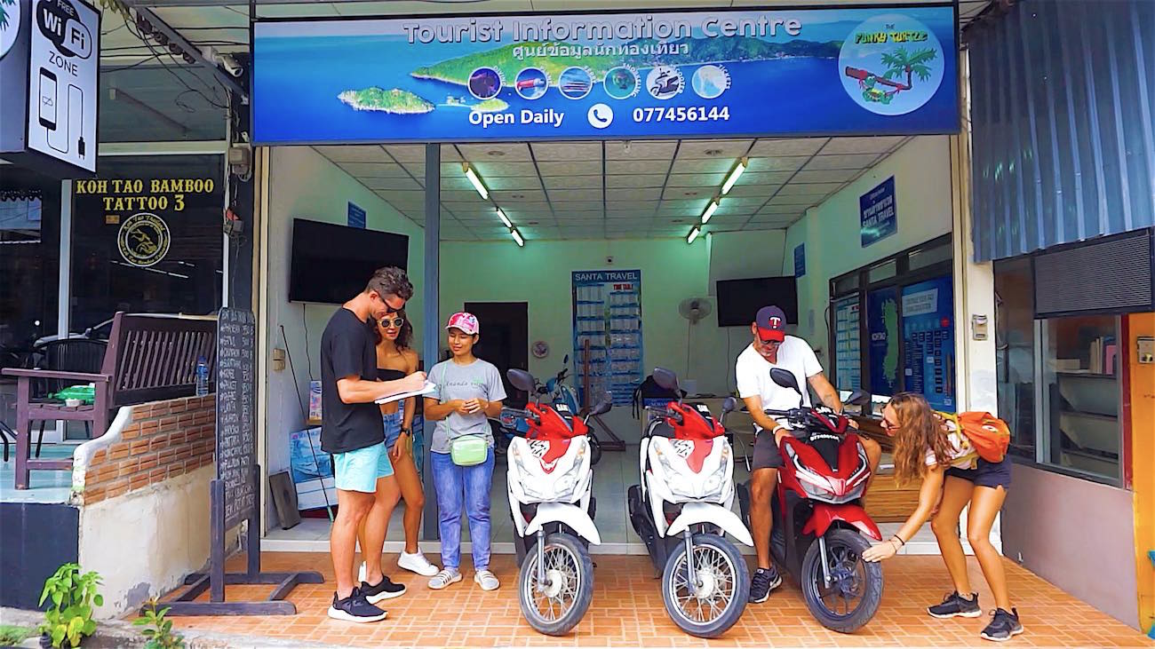 thefunkyturtle.com scooter rental koh tao tips